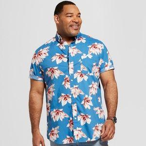 Men's Goodfellow & Co. Blue Hawaiian Shirt